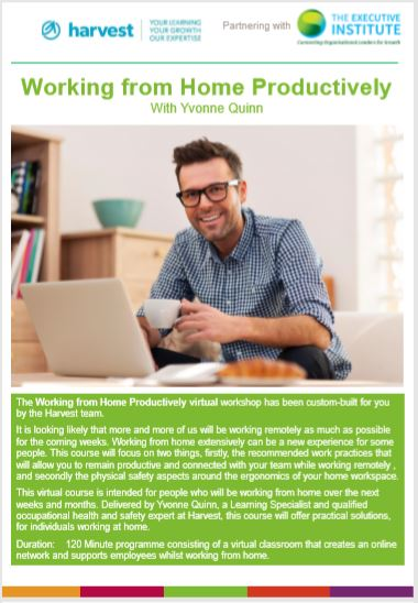 Working from Home Productively - Virtual Classroom